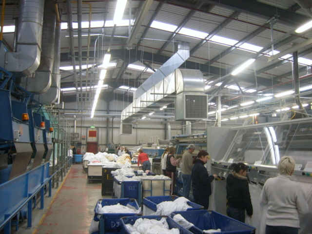 EcoCooling air suppy duct in a factory