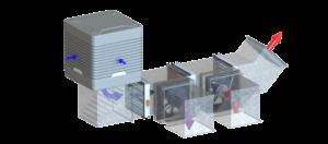 EcoCooling Air Handling System - evaporative cooling