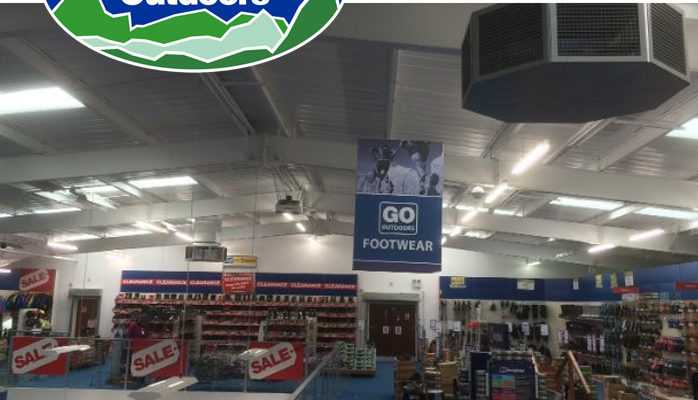 Keeping cool in all weathers – GO Outdoors use EcoCooling to prevent rising temperatures on their store mezzanine floors