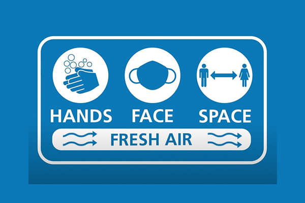 Government's new 'Hands, Face, Space, Fresh Air' message comes into play